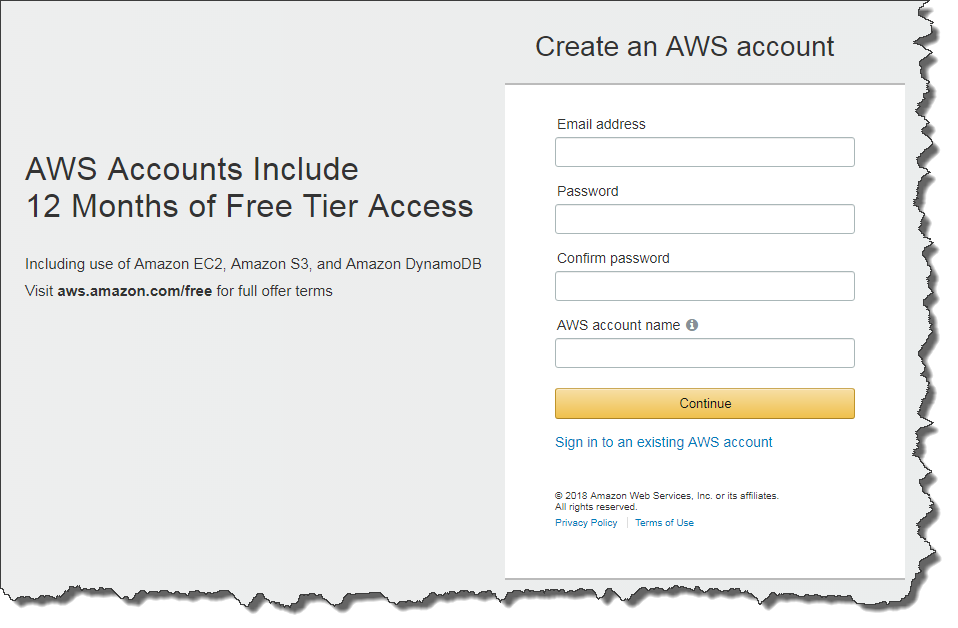 how to create an aws account