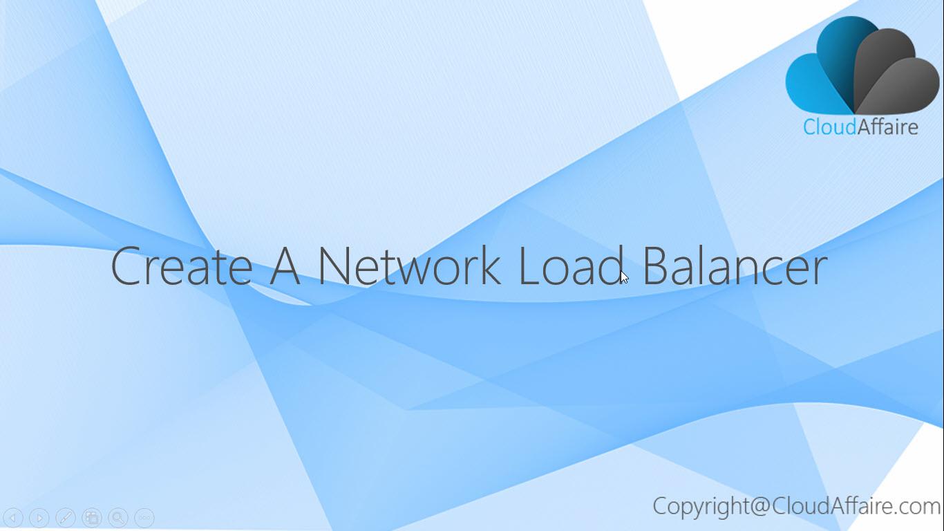 Create A Network Load Balancer