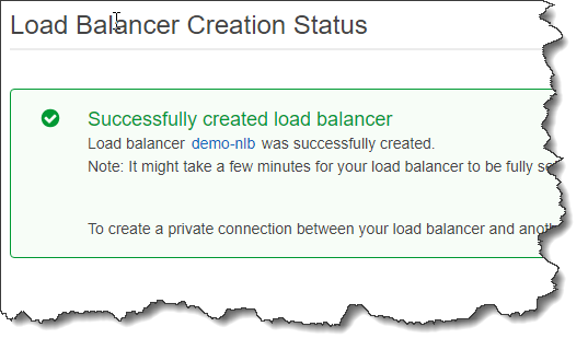 Create a Network Load Balancer
