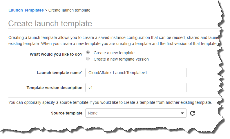How to create an AWS EC2 Launch Template step by step