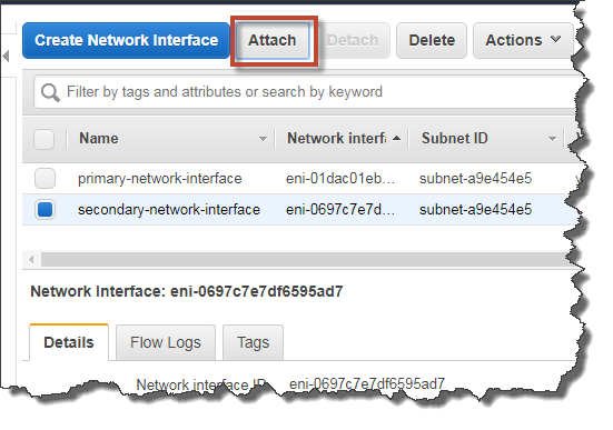 Create A Network Interface And Attach It To An EC2 Instance