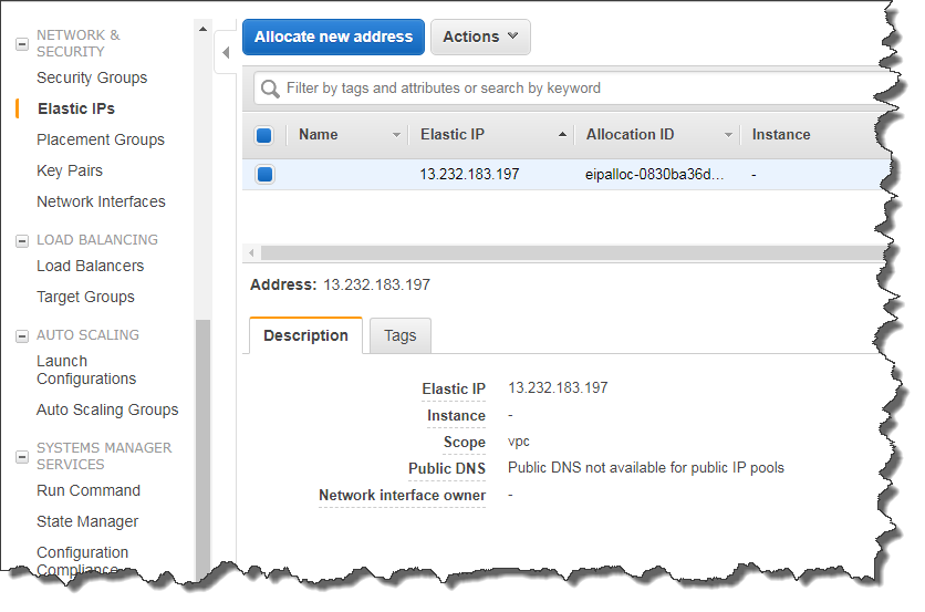 Create an Elastic IP address and assign to an instance