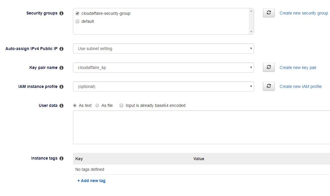 create an AWS EC2 spot instance