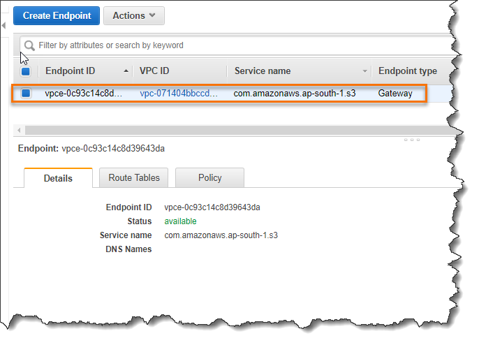 Create A VPC Endpoint Gateway | CloudAffaire
