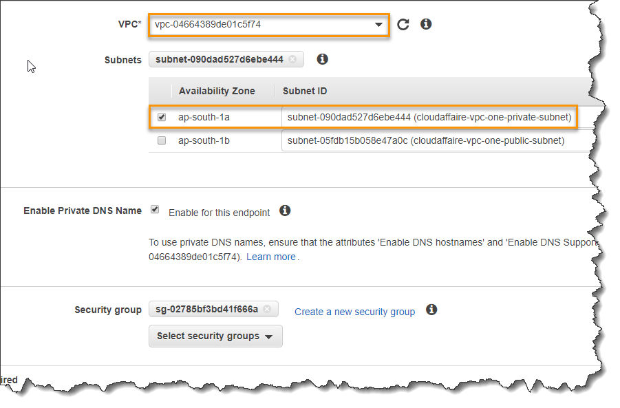 Create A VPC Endpoint Interface | CloudAffaire