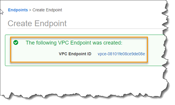 Create a VPC Interface endpoint