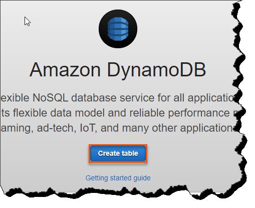 Create A Table In DynamoDB