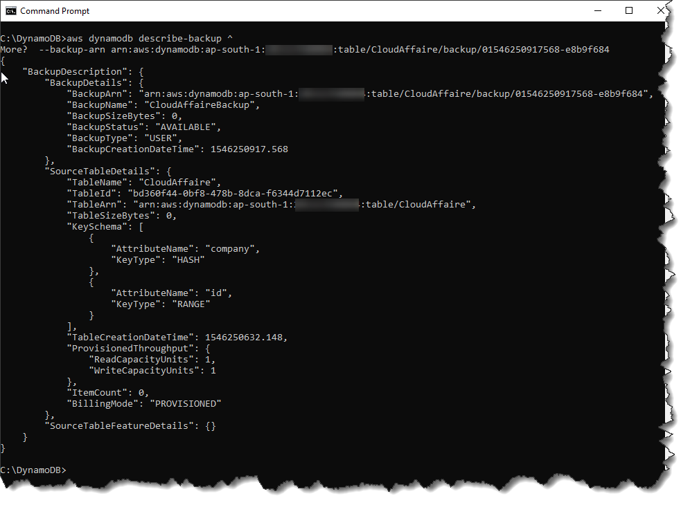 On-Demand Backup And Restore In DynamoDB | CloudAffaire