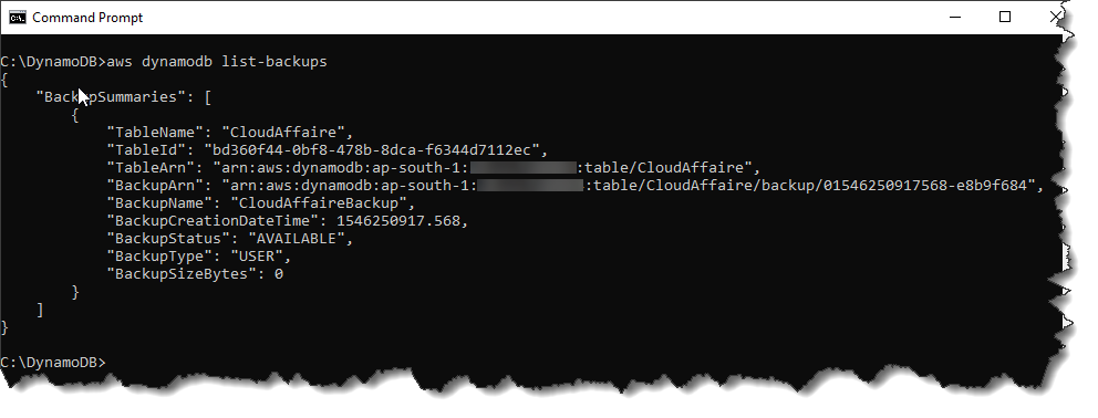 On-Demand Backup And Restore In DynamoDB