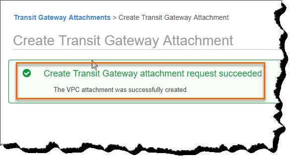Create A Transit Gateway