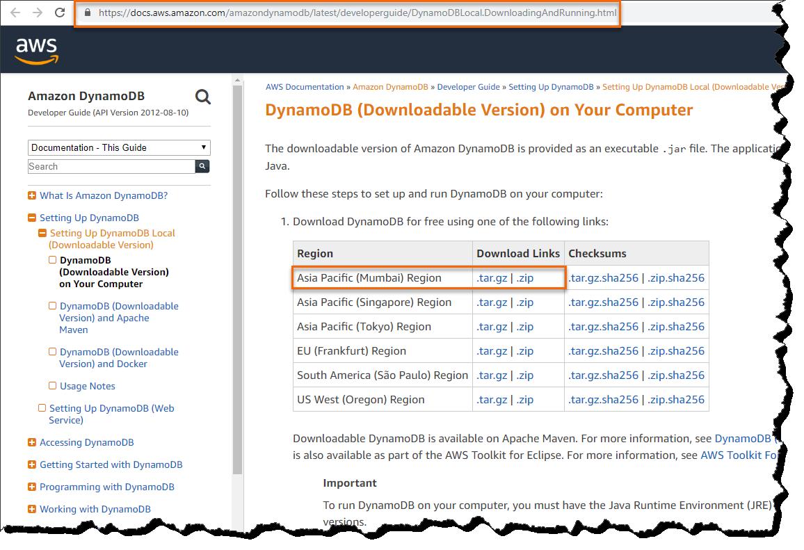 Install DynamoDB In Local Server