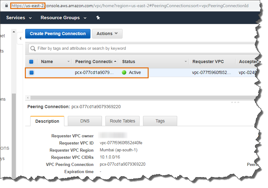 Create A VPC Peering