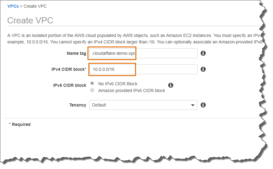 Create VPC manually