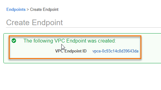 Create A VPC Endpoint Gateway