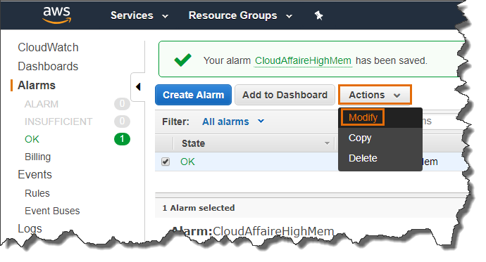 CloudWatch Alarm | CloudAffaire