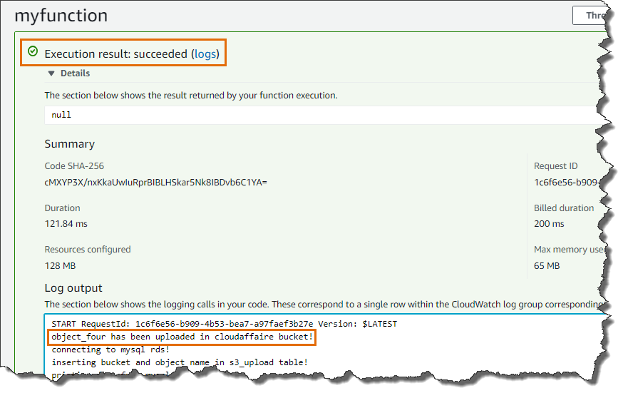 Invoke Lambda From AWS Console