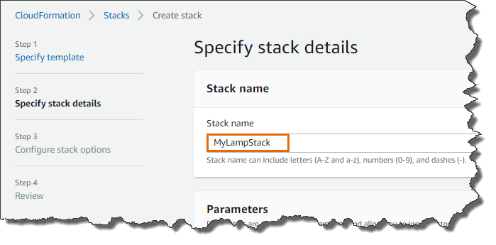 Create CloudFormation Stack