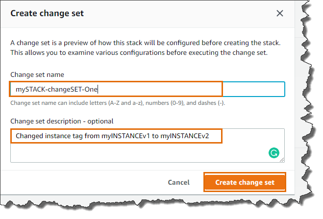 CloudFormation Change Sets