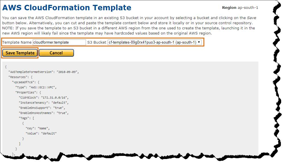 CloudFormation CloudFormer | CloudAffaire