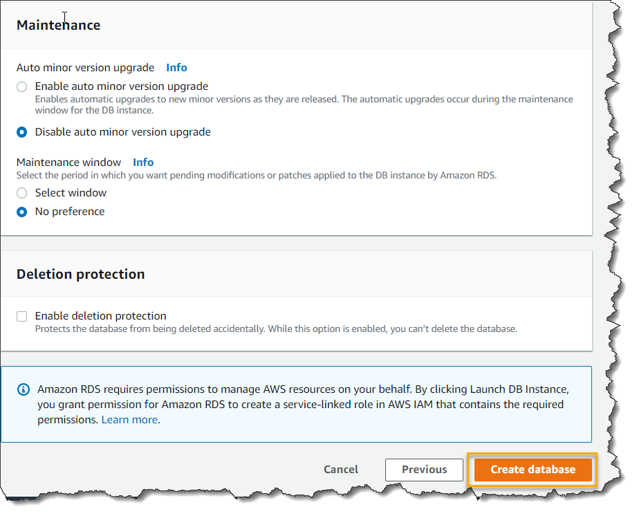 How To Create An AWS RDS Instance