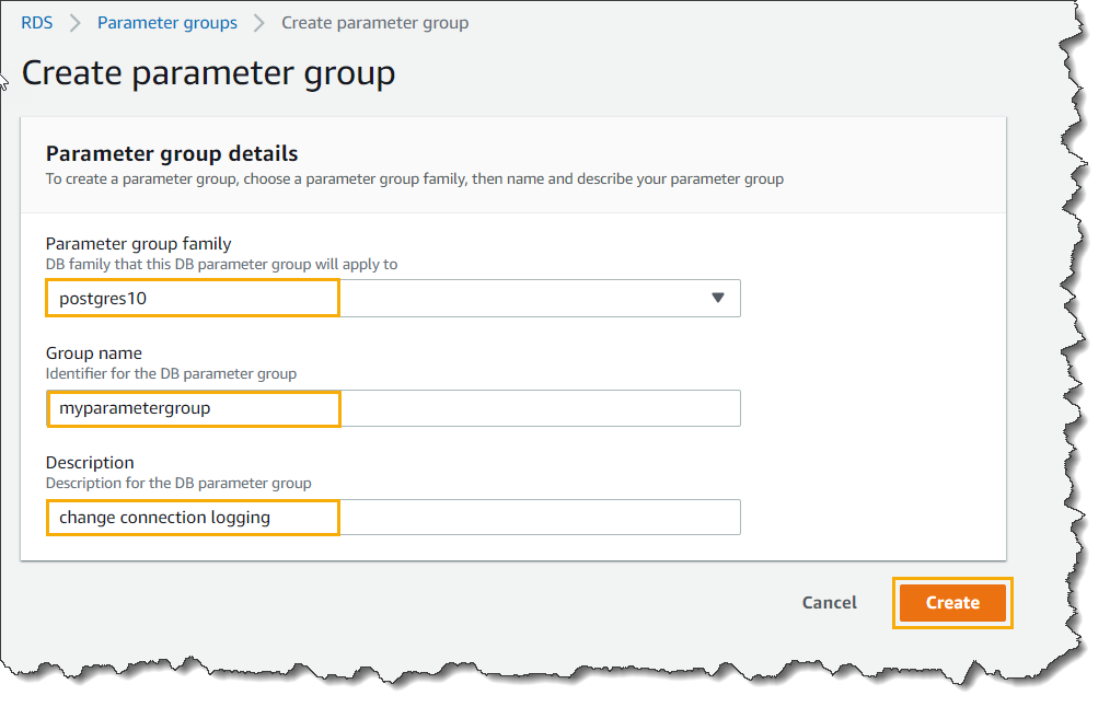 AWS RDS Instance Parameter Groups