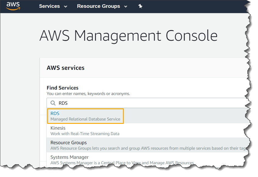 How to take backup of an aws rds instance