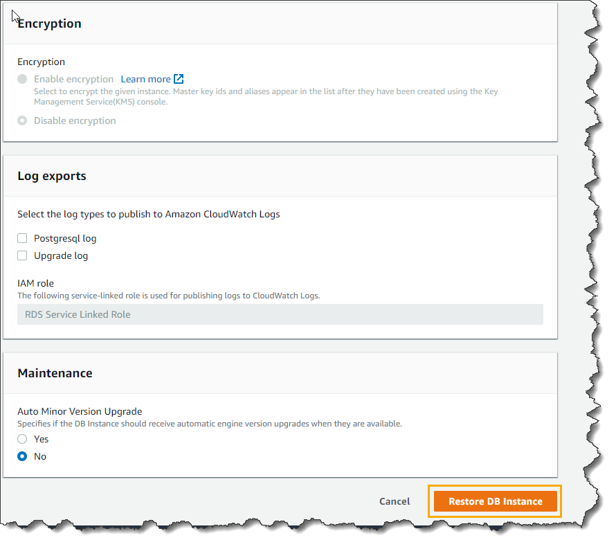 How To Restore An AWS RDS Instance Using Snapshot