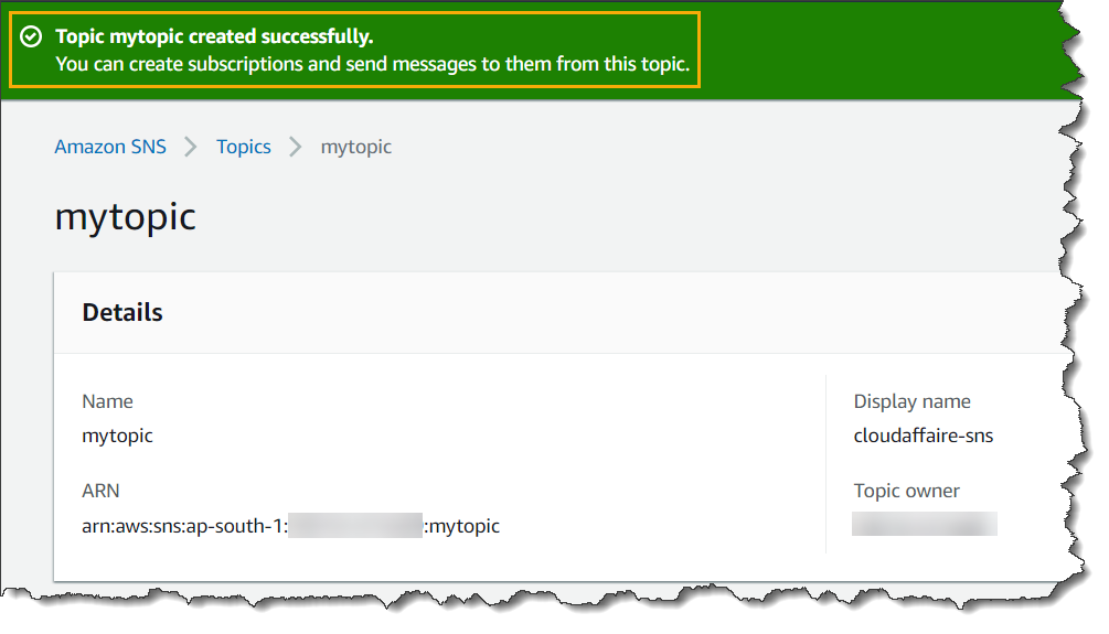 How To Configure Email Notification Using SNS