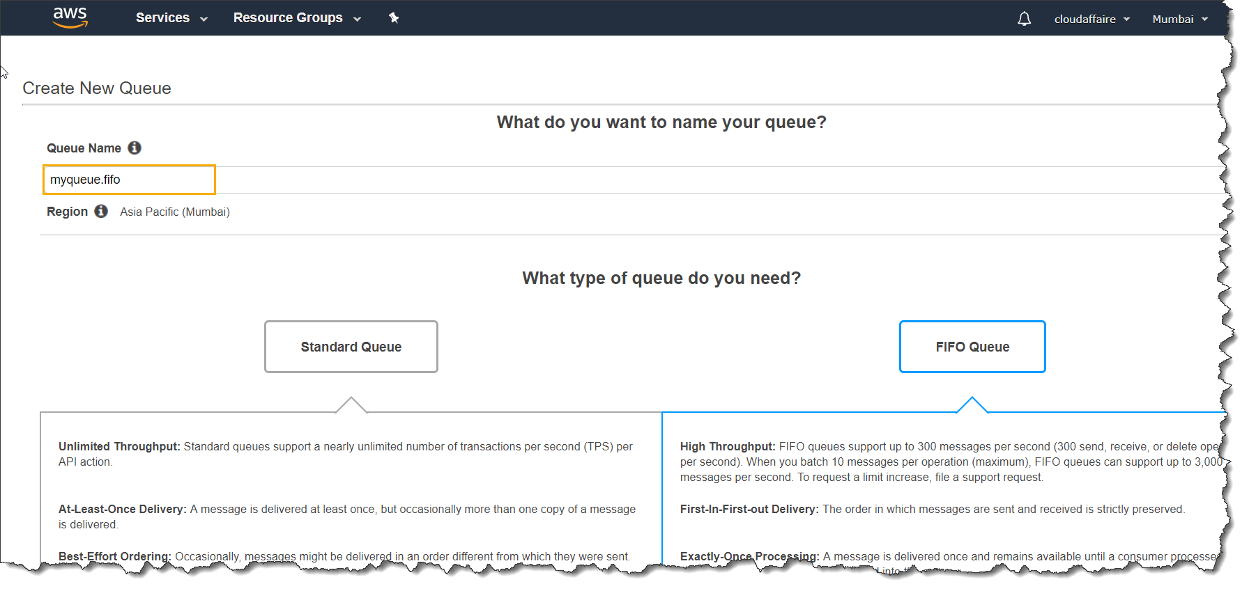 How To Create An SQS Queue