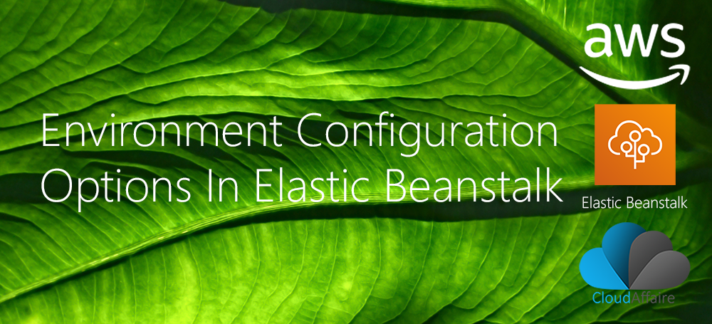 Environment Configuration Options In Elastic Beanstalk