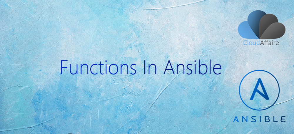 Functions In Ansible