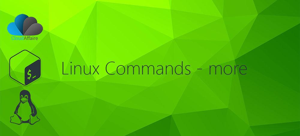 Linux Commands – more