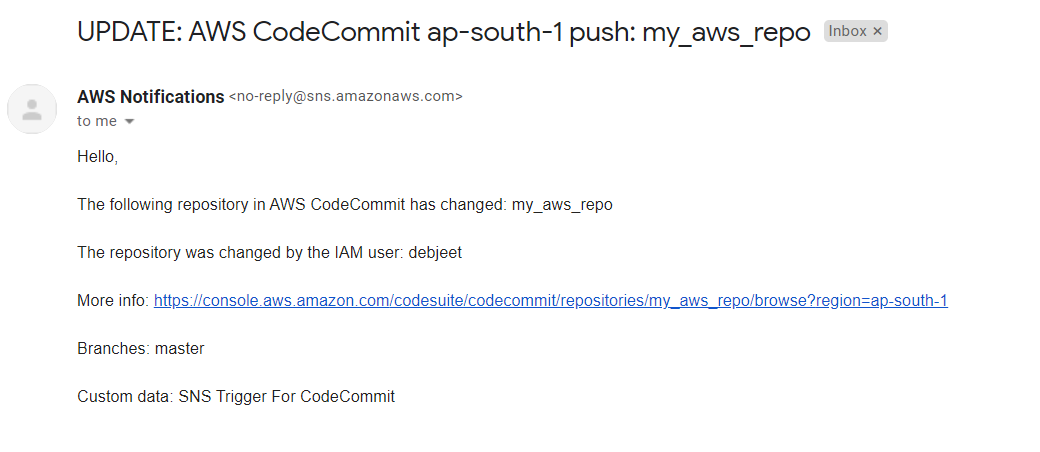 How To Create A Trigger In AWS CodeCommit Repository Using AWS CLI