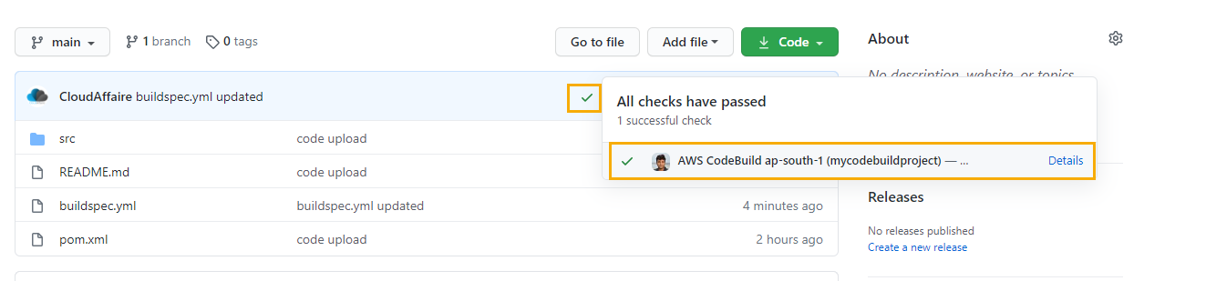 How To Trigger A CodeBuild Build Using GitHub Webhook