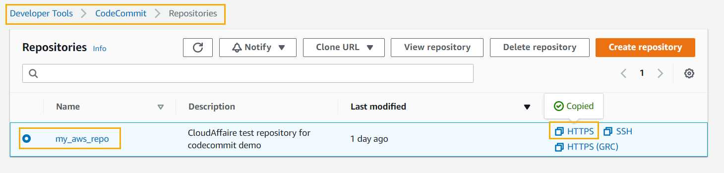 How To Access An AWS CodeCommit Repository Remotely