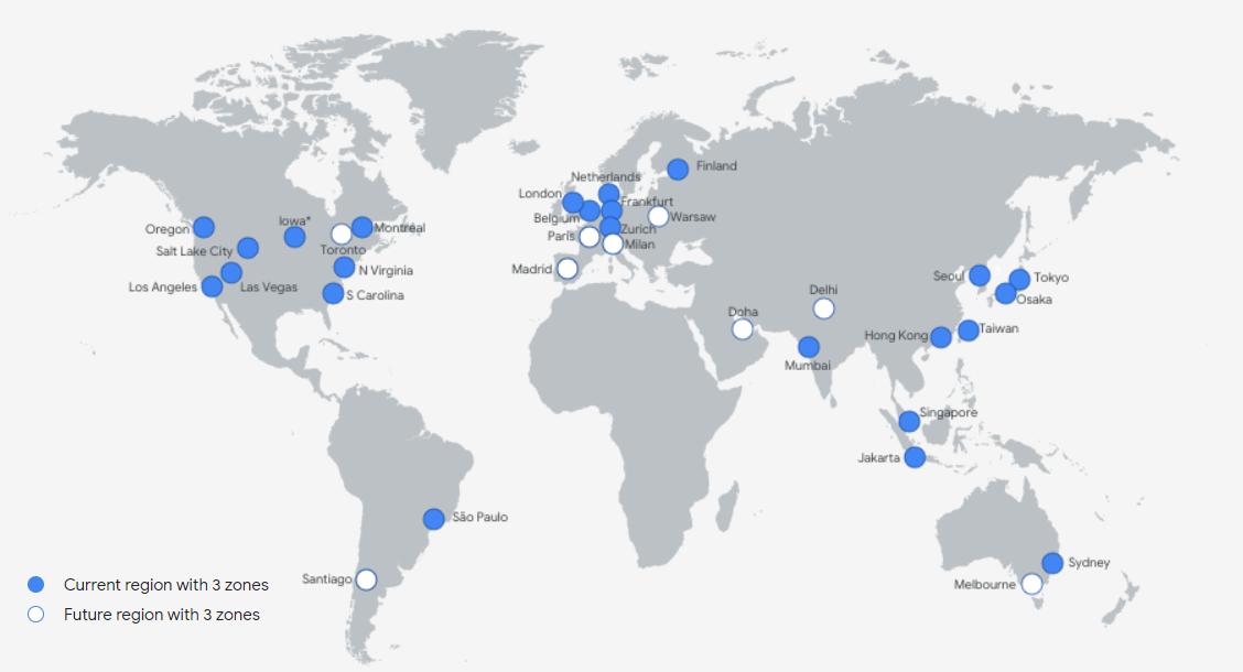 AWS Vs Azure Vs GCP Global Infrastructure