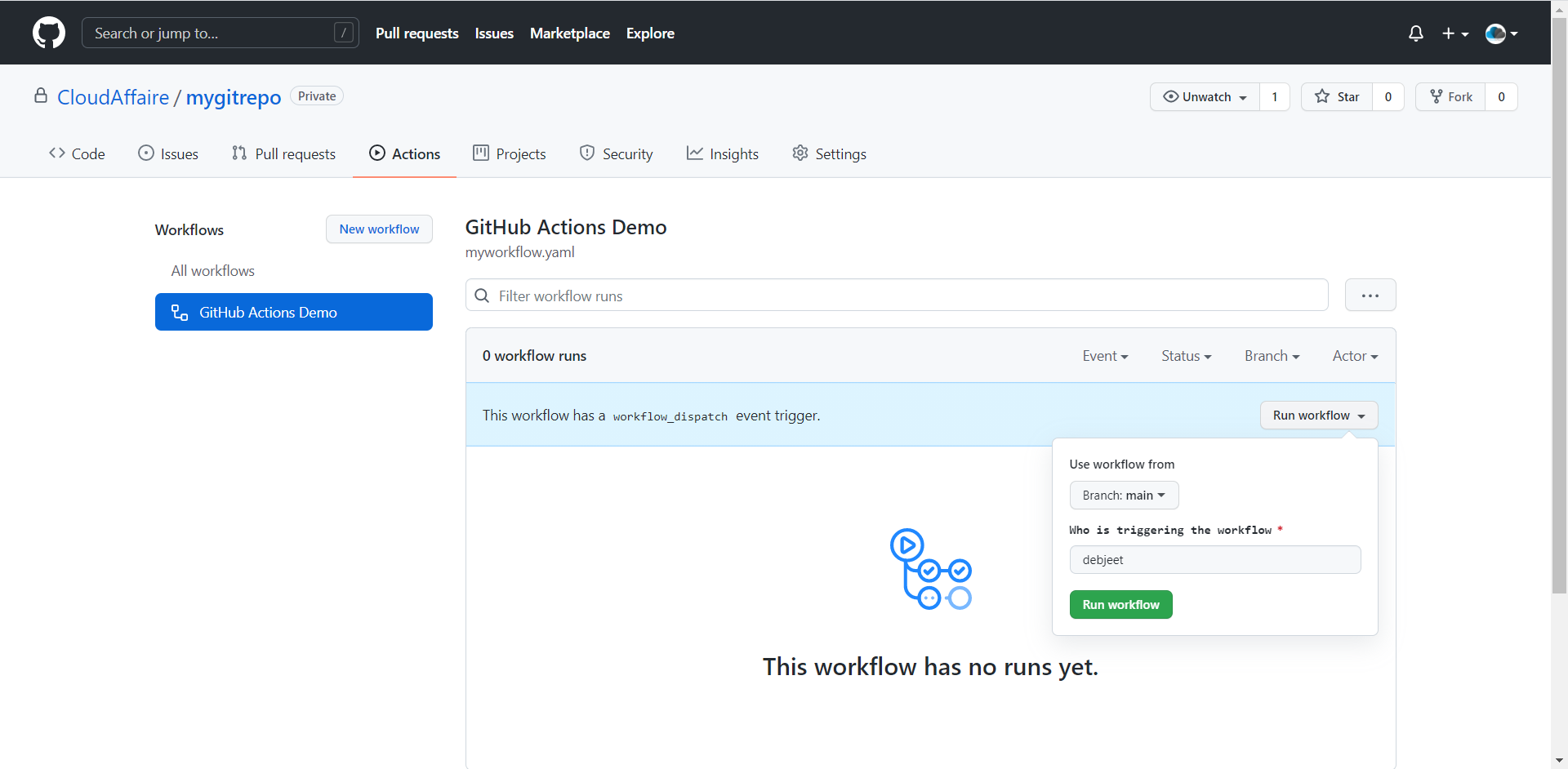 How To Trigger A GitHub Action Workflow Manually Using API